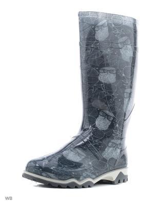 Резиновые сапоги Дюна. Цвет: черный, белый, темно-серый
