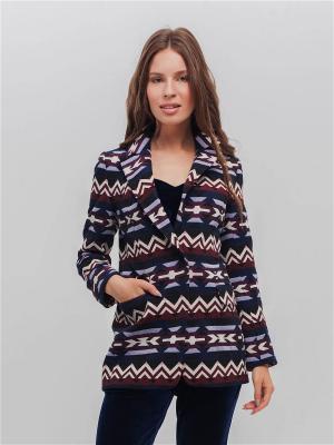 Пиджак TOTALLOOK. Цвет: темно-синий, белый, бордовый