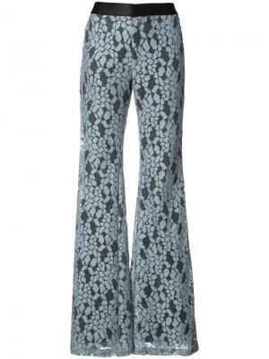 Расклешенные брюки с вышивкой Alexis. Цвет: синий