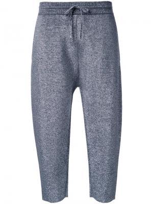 Укороченные спортивные брюки Jil Sander. Цвет: металлический