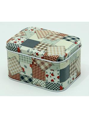 Коробка для безделушек и мелочей Лоскутная мозаика Magic Home. Цвет: белый