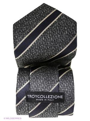 Галстук Troy collezione. Цвет: темно-серый, темно-синий
