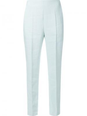 Зауженные брюки Delpozo. Цвет: зелёный