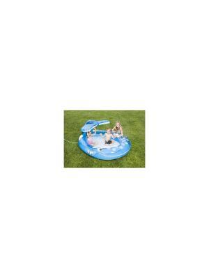 Надувной бассейн .кит с распыл.208х163х99см от 3лет Intex. Цвет: голубой