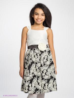 Платье Anna Fashion. Цвет: белый, черный