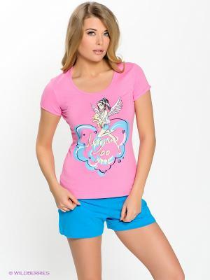Пижама PELICAN. Цвет: розовый, бирюзовый