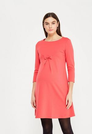 Платье Hunny mammy. Цвет: коралловый