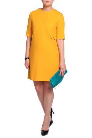 Платье Mees. Цвет: желтый