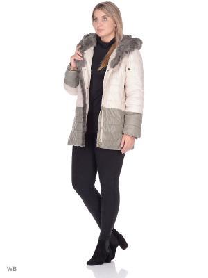 Куртка SML. Цвет: оливковый, бежевый