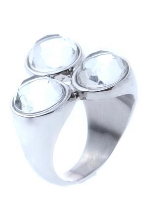 Кольцо OXXO design. Цвет: стальной, прозрачный