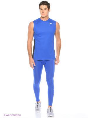 Тайтсы COOL TIGHT Nike. Цвет: синий