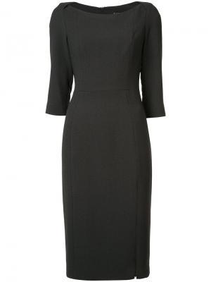 Приталенное платье шифт Black Halo. Цвет: серый