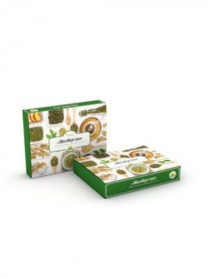 Набор-конструктор ЧАЙНЫЙ МАСТЕР зеленый чай с травами Floris. Цвет: зеленый