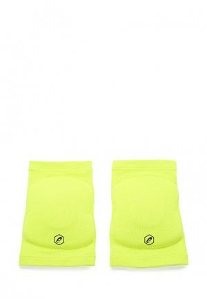 Наколенники ASICS. Цвет: зеленый