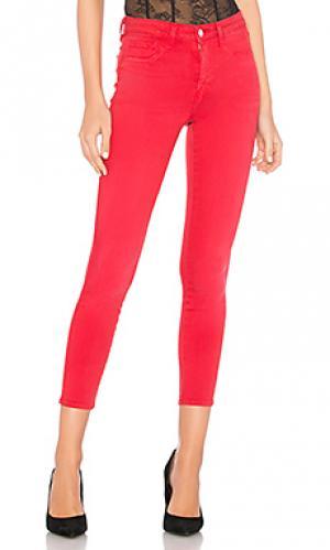 Узкие джинсы высокой посадки margot LAGENCE L'AGENCE. Цвет: красный