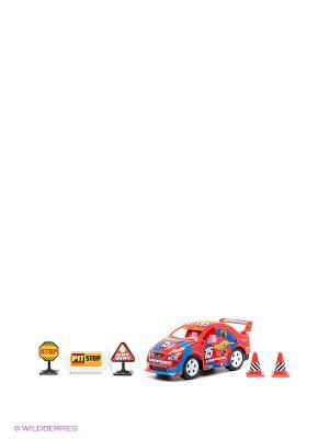Игровой набор-конструктор Машина Winner Toys. Цвет: красный