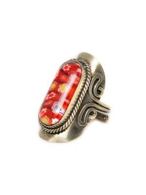Перуанское винтажное кольцо Indira. Цвет: красный, кремовый, бронзовый