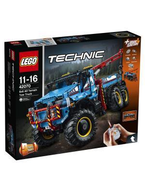 Technic Аварийный внедорожник 6х6 42070 LEGO. Цвет: синий