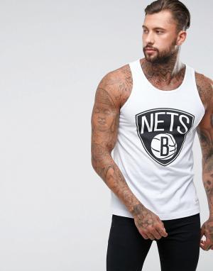 Mitchell & Ness Майка NBA Brooklyn Nets. Цвет: белый