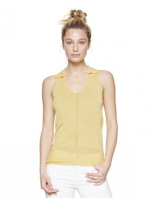 Майка United Colors of Benetton. Цвет: бежевый, светло-желтый, желтый