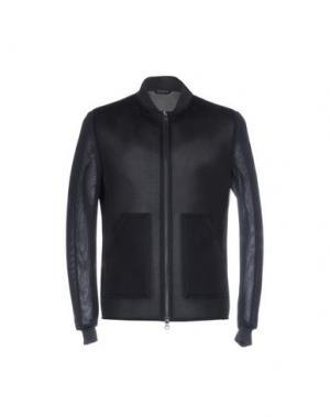 Куртка DANIELE ALESSANDRINI HOMME. Цвет: темно-синий