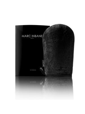 Варежка MARC INBANE Glove для нанесения геля душа, автозагара, молочка и масла на тело. Цвет: черный