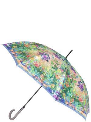 Зонт-трость Eleganzza. Цвет: зеленый, бежевый, фиолетовый
