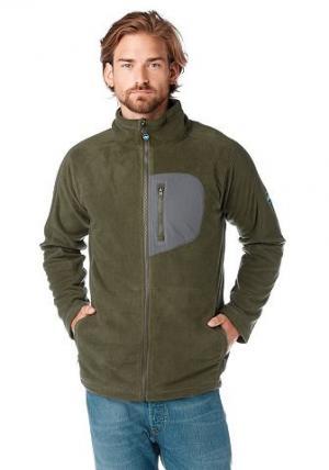Polarino, куртка из флиса POLARINO. Цвет: хаки