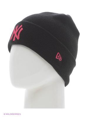 Шапки New Era. Цвет: черный, розовый