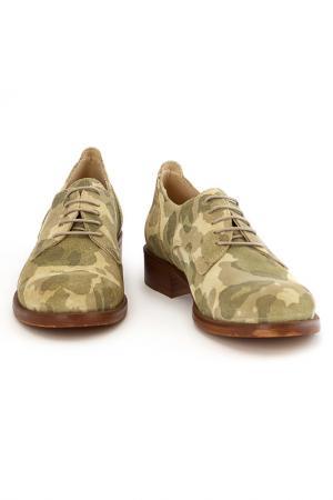 Ботинки Elena. Цвет: зеленый