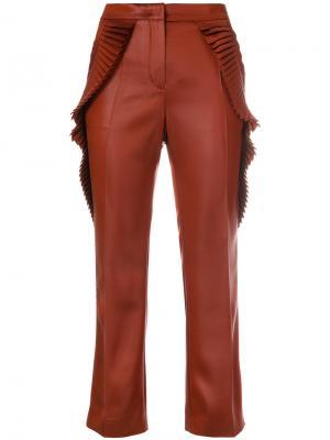 Укороченные брюки  с плиссировкой Marco De Vincenzo. Цвет: жёлтый и оранжевый