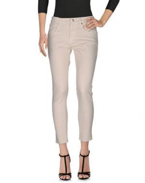 Джинсовые брюки GAëLLE. Цвет: слоновая кость
