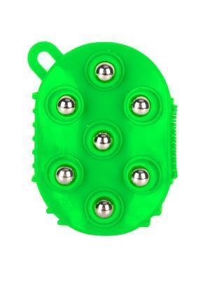 Массажная варежка с шариками Массаж-7 RUGES. Цвет: зеленый