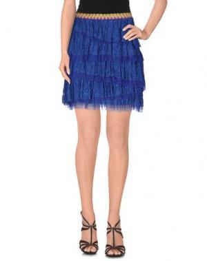 Мини-юбка TENAX. Цвет: синий