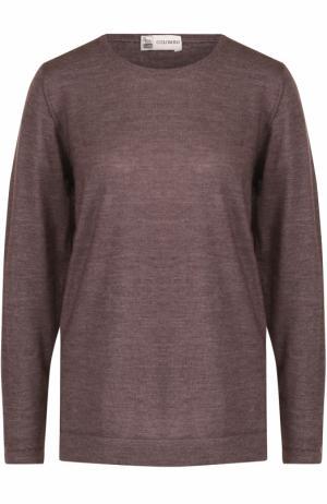 Пуловер из смеси шелка и кашемира с круглым вырезом Colombo. Цвет: светло-коричневый