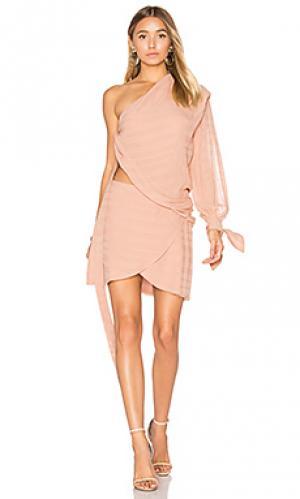 Мини платье rosewood BEC&BRIDGE. Цвет: розовый