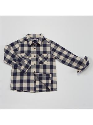 Рубашка MINOTI. Цвет: синий, кремовый