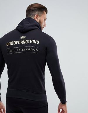 Good For Nothing Худи черного цвета с золотистым логотипом на спине. Цвет: черный