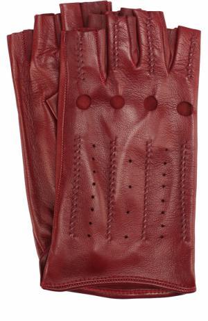 Кожаные перчатки Sermoneta Gloves. Цвет: красный
