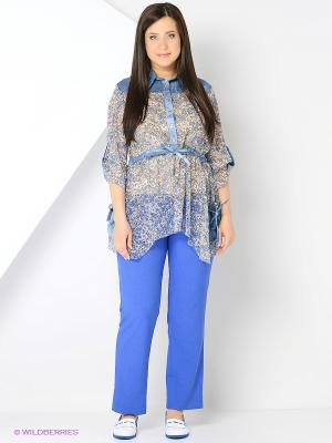 Брюки Milana Style. Цвет: синий
