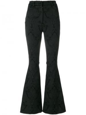 Расклешенные брюки с цветочным узором Dolce & Gabbana. Цвет: чёрный