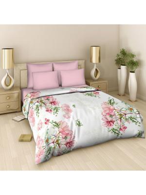 Комплект постельного белья из поплина 1,5 спальный Василиса. Цвет: розовый