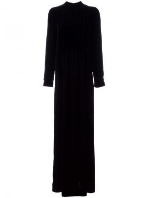 Длинное бархатное платье Veronique Branquinho. Цвет: чёрный