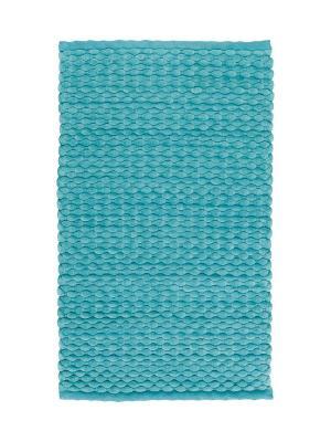 Коврик для ванной MAKS 60x100 Aquanova. Цвет: голубой