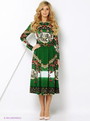 Платье со складками ADZHEDO
