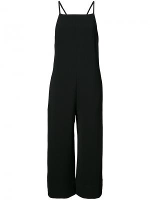 Cropped strappy jumpsuit Nomia. Цвет: чёрный