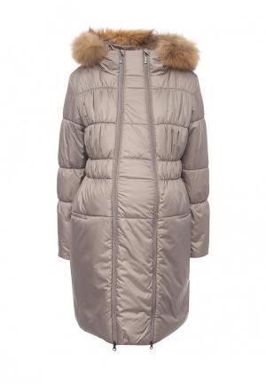 Куртка утепленная Budumamoy. Цвет: бежевый