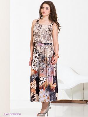 Платье МадаМ Т. Цвет: светло-бежевый