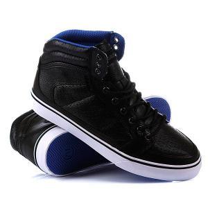 Кеды кроссовки высокие  Lowdown Hc Lthr Mns Black Gravis. Цвет: черный