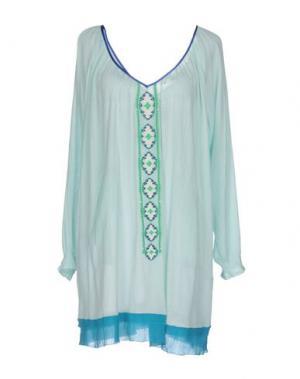 Короткое платье CHRISTOPHE SAUVAT. Цвет: светло-зеленый